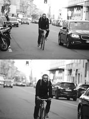 [La Mia Citt][Pedala] (Urca) Tags: portrait blackandwhite bw bike bicycle italia milano bn ciclista biancoenero bicicletta 2016 pedalare dittico ritrattostradale 85566 nikondigitalemir