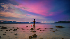 Brave guy (3dgor ) Tags: sea sky beach water night clouds landscape dawn evening coast landscapes sand rocks pentax dusk seashore k1 littlestopper dfa1530
