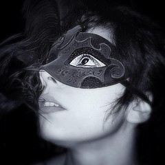 Mask of Venice (Namast Mari) Tags: yeux occhi eyes espression espressione femmina female bw blackandwhite biancoenero monocromatico venice venezia mask maschera donna woman