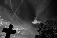 Crossing (Colin-47) Tags: crossing blackwhite sky shapes symbols colin47 july 2016 symbolism aboveandbelow nikond7200 sigma1750f28