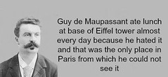 How can someone hate the Eiffel Tower? (PuzzleCubes) Tags: paris france lunch interesting funny lol eiffeltower latoureiffel wtf facts guydemaupassant funfact puzzlecubesworld