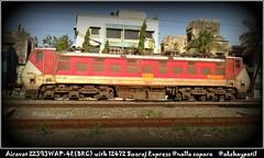 22393 WAP4-E THE GREAT AIRAVAT as power of 12472 Swaraj express (akshaypatil™ ® photography) Tags: 22393 airavat wap4e 12472swaraj