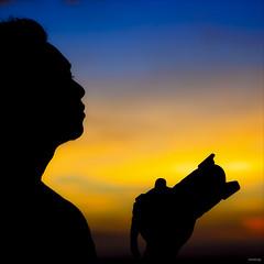 Enjoy the beautiful scenery! Do not rush to take photos! :)) (-clicking-) Tags: sunset sky silhouette skyscape mood photographer emotion vibrant vivid vietnam enjoy bluehour feeling goldenhour colorfu friendsl hoànghôn phanthiết asquaresuperstarstemple