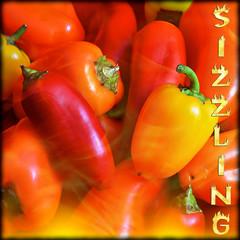 Week #14 ~ Hot (JewelsOK) Tags: red orange hot texture yellow pepper flames hell burning peppers week14 2012 theghostofaflea 52of2012