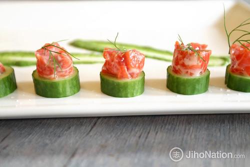 Salmon Rillette Cucumber Round - 11