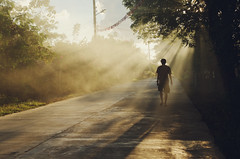 (iamabcd [back to posting]) Tags: light shadow mist silhouette rays tarlac tibagan