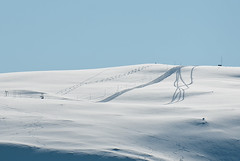 Ski tracks, morning (Per Ivar Somby) Tags: winter skitracks troms mouintain
