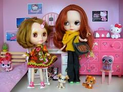 Amandine with Lili