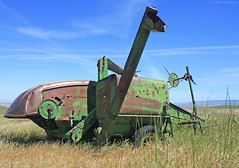 No. 12A - Abandoned - John Deere (Electric Crayon) Tags: usa history abandoned oregon outdoors combine pacificnorthwest americanwest johndeere weston oldwest 12a patrickmcmanus