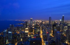 An amazing skyline at dusk, Chicago (Sir Francis Canker Photography ) Tags: trip blue sunset usa lake chicago reflection building tower water skyline night america skyscraper landscape lago illinois amazing cityscape view skyscrapers dusk michigan gorgeous horizon president yo landmark visit icon eua lincoln vista obama magnificent mile chanclas g8 rascacielos