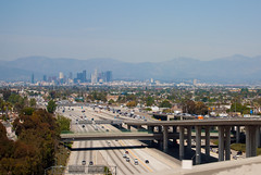 Los Angeles (sirgious) Tags: skyline smog losangeles downtown 110 freeway i110