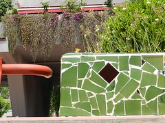 mozak & plants (JosDay) Tags: spain publicbench badalona mozak
