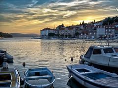 Sunset over Milna (jp3g) Tags: sunset summer boats sailing harbour croatia panasonic g3 hdr topdeck milna
