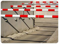 (joyrex) Tags: road shadow red white lines yellow rotterdam garage nederland tunnel geel rood wit weg lijnen