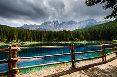 The Journey is the Reward... (Nussecke) Tags: italien italy mountain lake see europa europe landschaft wald dolomites sdtirol southtyrol umwelt dolomiten lagodicarezza karersee latemar welschnofen trentinosdtirol