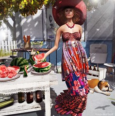 NEW! Baiastice  Zoroaide Mesh Maxi Dress (Neva Crystall~) Tags: truth turnips flecha dutchie zooby ohstudio baiastice l2studio izzies deessesskins