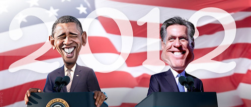 Obama vs. Romney 2012 by DonkeyHotey, on Flickr