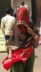 Well covered at Jama Masjid (bokage) Tags: woman india veil delhi mosque jamamasjid olddelhi