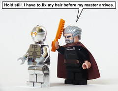 The True Purpose of TC-14 (Oky - Space Ranger) Tags: hair star funny lego brush chrome wars minifig clone comb sith droid count protocol separatist dooku tc14