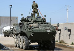 "LAV III Kodiak, Royal Canadian Dragoons (Armoured), 2 Canadian Mechanized Brigade Group, Exercise ""SPARTAN BEAR"" Wash Racks (Barry ""Griff"" Griffiths) Tags: 2 car training army gun force exercise centre iii group central royal machine canadian chain land vehicle grenade receiver caf kodiak launcher brigade 25mm coaxial petawawa stabilized sensors lav armoured mechanized dragoons 762mm meaford cfb 76mm m242 electrooptic spartanbear laserwarning"