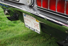 1968 Shelby Mustang 428 GT500 KR King of the Road rear plate, lights (wbaiv) Tags: shelby memorial rememberence gathering san jose mercury news 1968 mustang 428 gt500 kr king road kingoftheroad ford nikon d40x 1855mm f4556 car automobile vehicle cars automobiles vehicles taillights brake lights backup turn signals rear lamps bulbs covers redpart amber lens red motor transport land wheeled