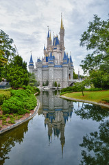 Twice the Castle Fun! (Explored!) (Kristopher Michael) Tags: travel vacation reflection castle water beautiful orlando florida disneyworld wdw waltdisneyworld cinderellascastle cinderellacastle