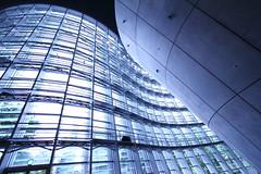 Construction (Teruhide Tomori) Tags: building japan architecture tokyo construction 日本 東京 windowpane 国立新美術館 thenationalartcentertokyo