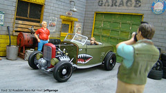 Burnout w/ Ford '32 Aero Rat Rod (jeffgarage) Tags: 1932 rat rod burnout gmp aero 118 frod diecast diecaster jeffgarage