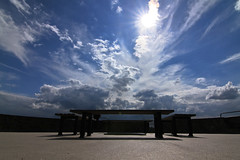bench / 01 (nowhiteflag.) Tags: sky sunlight clouds bench angle wide tokina brug f28 sitzbank blankenberg hennef nowhiteflag tokina1116mmf28 1116mmn torstenspiller