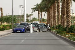 Ferrari FF (Flsimages) Tags: road camera new old blue red club photo driving desert low tan middleeast fast ferrari saudi arabia historical riyadh saudiarabia rolling v10 ksa photoclub diriyah diryah