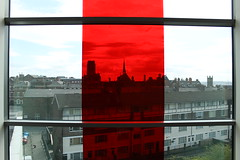 Untitled (Red) (dannyjohnryder) Tags: light red color colour art architecture liverpool canon artist filter installation canoneos lightart aesthetic colorart lightinstallation colourart canoneos1100d canon1100d