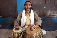 Tabla player (Dick Verton ( more than 13.000.000 visitors )) Tags: travel people music india man asia sitting sit varanasi seated tabla dickverton