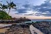 Paradise (clarsonx) Tags: sunset water night clouds landscape hawaii sand surf cloudy shoreline secretbeach maui explore palmtrees pacificocean shore getty makena lavarocks weddingbeach makenacove paakocove