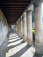 """""""Peristylium"""" (=Garden) of the House of Argus at Herculaneum (79 AD) (* Karl *) Tags: italy archaeology column ercolano herculaneum"""