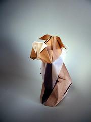 Snowy the dog (Milu) - Blanka Pentela (Rui.Roda) Tags: dog origami snowy papiroflexia blanka milu papierfalten milu pentela