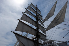 Sails of Nippon Maru (Colorful-wind) Tags: light shadow white japan port ship may fujifilm fukuoka lightandshadow sailingship mojiko nipponmaru 2016 kitakyusyu moji xti saildrill