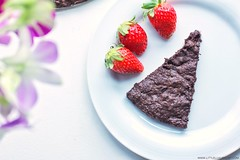 Flourless chocolate cake with strawberries by little luxury list (little luxury list) Tags: food cake dessert chocolate sweets recipes glutenfree