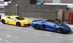 Lamborghinis (R.K.C. Photography) Tags: uk england italian unitedkingdom huracan stevenage lamborghini supercar hertfordshire sportscar canoneos100d aventador