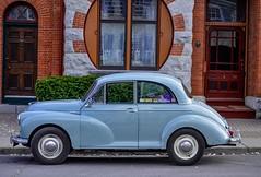 Morris - Kingston[explored] (Kat Hatt) Tags: kingston street morris car building detail blue stickers explored matchpointwinner mpt505