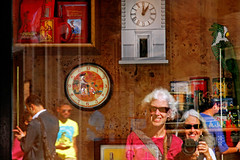 the world is a looking glass (1crzqbn) Tags: street city portrait people sunlight color roma me glass reflections outdoor selfie coffeefreak 1crzqbn whocanfindthe2ndreflectioninthelightbox selfiewithafriend lacasadelcaffealpantheon 12to61206