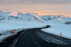 Vik Iceland (Nik Art Photography) Tags: mountains sunrise snow road winding vik iceland