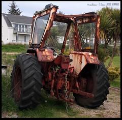 David Brown in the Garden (zweiblumen) Tags: uk tractor scotland alba isleofarran davidbrown polariser kildonan northayrshire eileanarainn canoneos50d zweiblumen cilldonnain