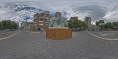 Janus Panorama (Nathan Tweti) Tags: newyorkcity panorama sculpture artists lionel 360x180 smit ptgui