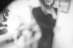 Lara (.Till) Tags: blur girl mirror bokeh bw lips freelensing hair grey cut bielefeld