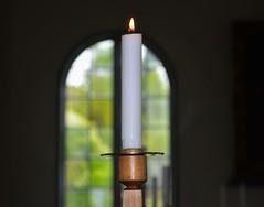 Ljus i Guds hus (lena.fredin) Tags: church window spring candle ljus fotosondag fs160522