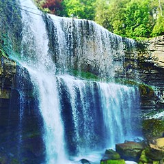 """Websters falls bottom up view (""""Rooster"""") Tags: canada water landscape waterfall outdoor waterfalls watefall webstersfalls hamiltonontario canadianwaterfalls"""