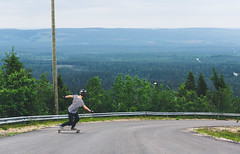 up in the mountain (Nippe16) Tags: finland skateboarding hill skate longboard skateboard fell longboarding