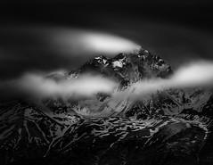 East Twin Peak (Dan Moran AK) Tags: longexposure blackandwhite mountain snow alaska landscape nikon nd d750 lowkey chugach chugachmountains chugachstatepark neutraldensity firecrest easttwinpeak formatthitech tamronsp70200mmf28divcusd