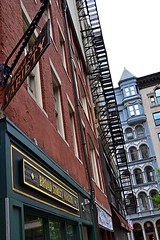 Broad Street Variety (AntyDiluvian) Tags: boston facade massachusetts financialdistrict fireescape variety broadstreet intricate