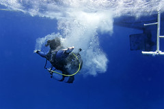 Andrew Searle (KnyazevDA) Tags: sea underwater wheelchair scuba diving disabled diver padi undersea handicapped amputee disability